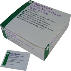 HypaClean Sterile Moist Alcohol-Free Wipes