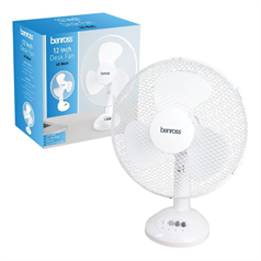 "12"" White Desk Fan"