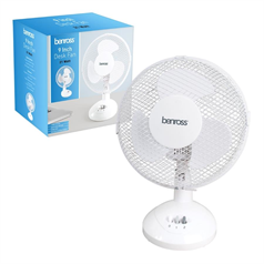 "9"" White Desk Fan"
