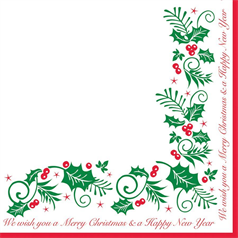 Swantex Christmas Napkins Holly and Ivy x 2000