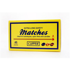 clipper long life matches, prevent burning fingers, matches, extra long length,