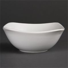 U173 Olympia Whiteware Rounded Square Bowls 140mm