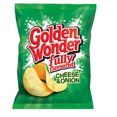 Golden Wonder Crisps - Cheese & Onion x 32