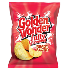 Golden Wonder Crisps - Ready Salted x 32