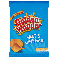 Golden Wonder Crisps - Salt & Vinegar x 32