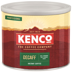 kenco freeze dried decaf coffee, branded, quality, kosher, workplace, hot drink