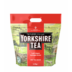 yorkshire tea tea bags, quality, rainforest alliance certified, individually sealed, workplace,