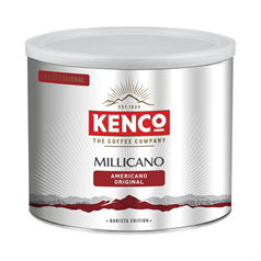 kenco millicano whole bean instant coffee, authentic coffee taste, value, big tin,
