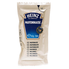 heinz mayonnaise, brand, premium quality, sachets, clean, quick, easy to use,