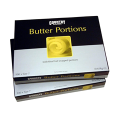 country range, butter portions, individual, easy to use, hygienic, simple
