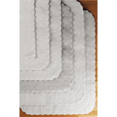 Embossed Tray Papers - White
