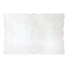 lace tray papers, doyleys, improved presentation, catering, restaurants