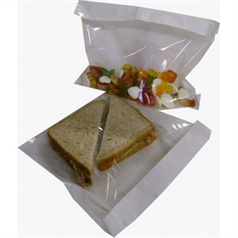 film front bags, catering dispoables, ideal to display products, transparent