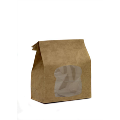 kraft bag, strong paper, quality, clear window, prevent stains, recycled paper,