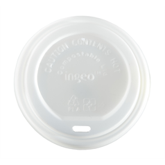Compostable Sip Thru Domed Lid 10-16oz