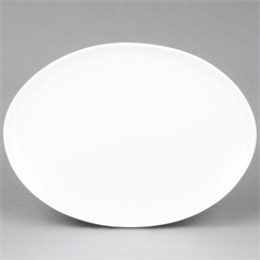 "Orion Coupe Oval Platter - White 14"" x 2"