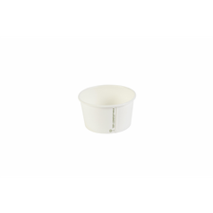 Biodegradable Soup Containers - White - 12oz