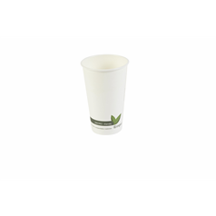 PLA Biodegradable Hot Cups - White - 12oz