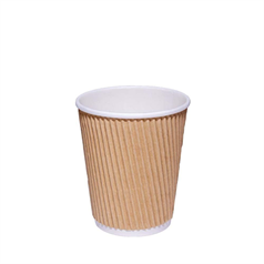 Kraft Ripple Hot Cup - 8oz