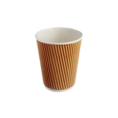 Kraft Ripple Hot Cup - 12oz
