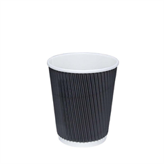 Ripple Cups - Black - 8oz