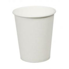 Plain Hot Drinks Cup - White - 8oz