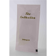 shampoo sachets, white and gold, pleasant fragrance, unisex, hospitality, hotels, guest amenities