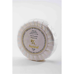 White & Gold Tissue Pleated Soap