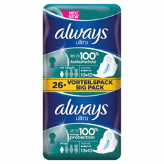always, ultra, ladies, sanitary protection, pads, soft, trusted brand
