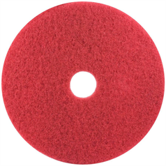 "3M Contract Floor Pad - Red 12"" x 5"