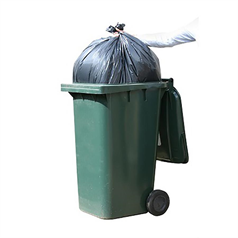 black sacks, rubbish bags, refuse, waste, chsa approved