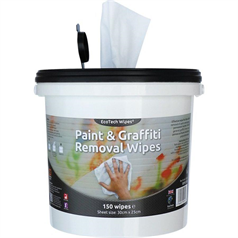 ecotech, paint and grafitti wipes, safe, alcohol formula, remove