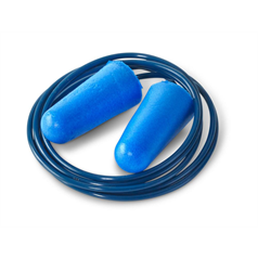 Disposable Detectable Corded Ear Plugs - Blue