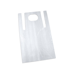 Disposable White Poly Aprons 100's
