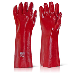 PVC Gauntlet - Red - 18""
