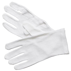 Mens Cotton Glove - White