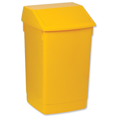 addis, waste, refuse bin, 54l bin, flip top,