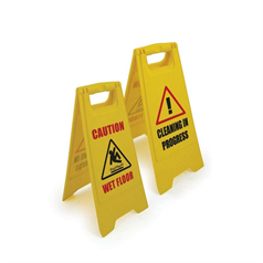 "Plastic Caution Wet Floor ""A"" Sign"