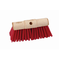 scavenger broom red, brush head, plastic, durable, lightweight,