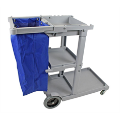 cheapie chappie, janitorial cart, cleaning trolley, portable, lightweight, durable,