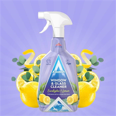 astonish glass cleaner, window cleaning, clear, streak free shine