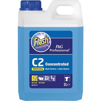 Flash Professional C2 Disinfecting Multi Surface & Glass Cleaner - 2ltr