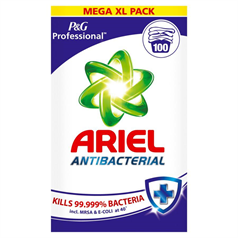 ariel, antibacterial, wahsing powder, laundry, clean clothes, stain removal, quality