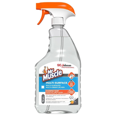 mr muscle, multi surface cleaner, disinfectant, kills germs