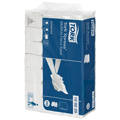 tork, xpress, hand towel, white, high strength, multifold