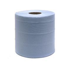 centrefeed rolls, blue, wiping, cleaning, 2 ply, dispenser, industrial, manufacturing