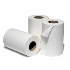 Mini Centrefeed Roll - White - 2ply