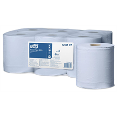 tork centrefeed rolls, blue, wiping, cleaning, 2 ply, dispenser, professional