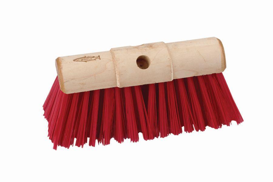 Plastic Fill Scavenger Broom Head Red 13 Quot X 1