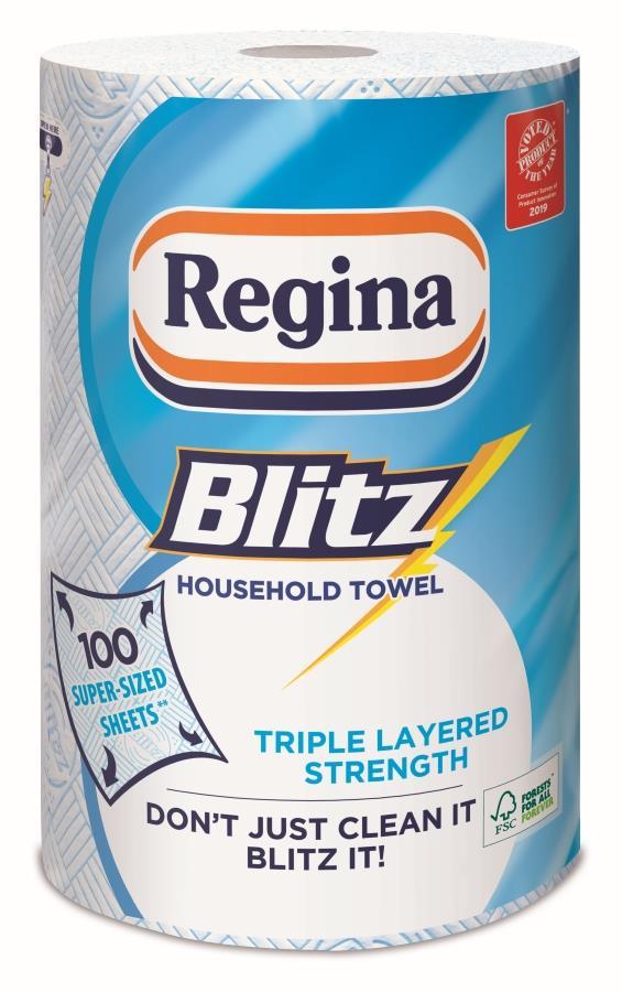 Regina Blitz All Purpose Kitchen Towels 100 Sheets per Roll